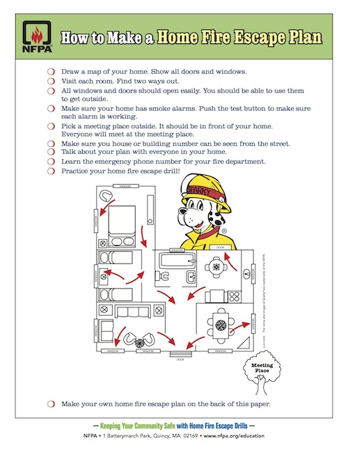 how to make a home fire escape plan brewster fire department