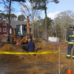 20150113 BREWSTER BOG POND RD BACKHOE ELEC LINE HIT 005