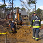 20150113 BREWSTER BOG POND RD BACKHOE ELEC LINE HIT 006