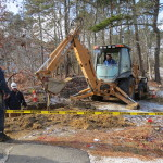 20150113 BREWSTER BOG POND RD BACKHOE ELEC LINE HIT 007